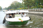 バンコク都の電動旅客船