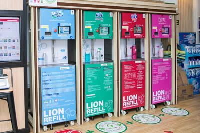 ライオンの洗剤詰め替え機