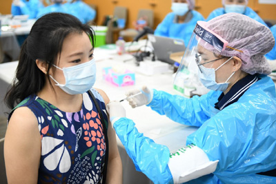 タイのワクチン接種会場