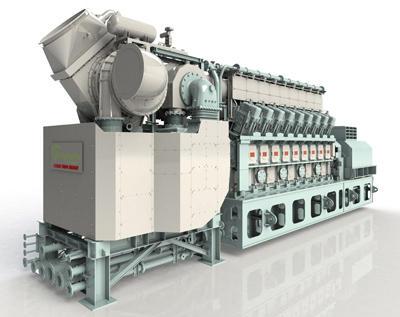 川重のガスエンジン