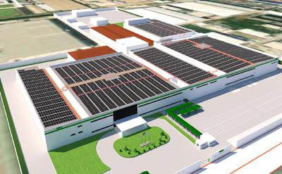 日本電産コパルの太陽光発電